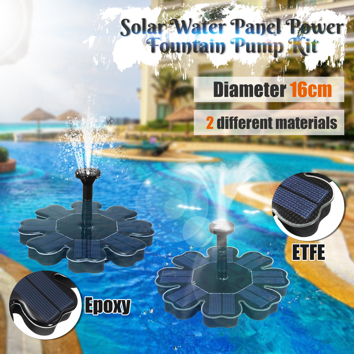 Solar Water Pump Solar Water Fountain Brushless Pump Solar Panel Power Garden Swimming Pool Pond Pumps Submersible For Garden