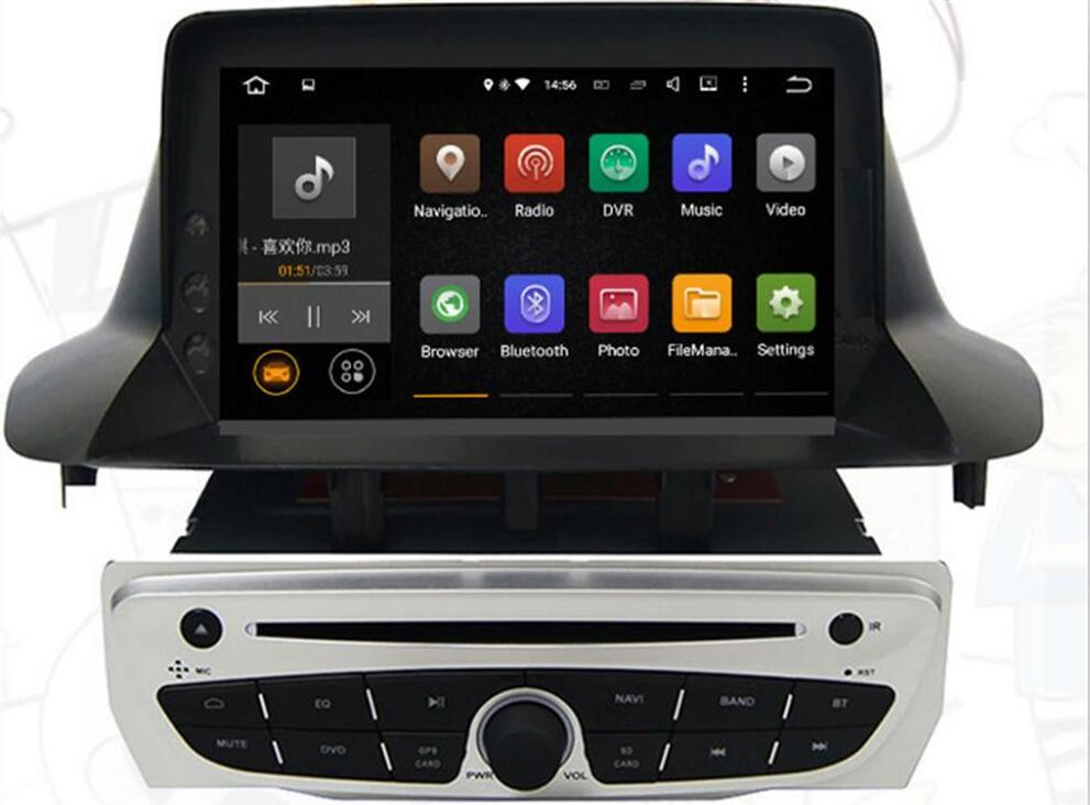 4G LTE Android 8.0 2018 NO VAT For Renault <font><b>Megane</b></font> <font><b>3</b></font> Fluence 2009-2015 Car <font><b>GPS</b></font> Navigation DVD Player Radio Screen DVD FAST SHIP image