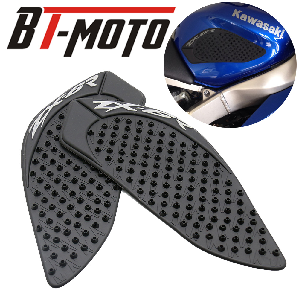 For Kawasaki ZX6R ZX 6R 2009 2010 2011 2012 2013-2015 Protector Anti Slip Tank Pad Sticker Gas Knee Grip Traction Side 3M Decal