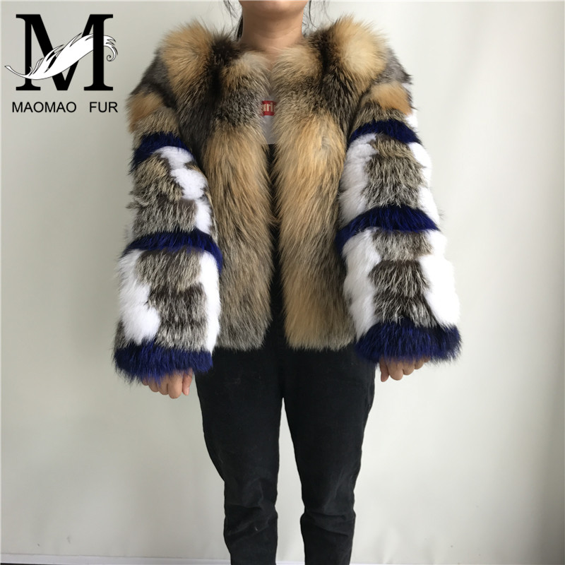 Women Winter Real Fox Fur Jacket High end Short Red Fox Coat Fashion Clothes Fluffy Hot