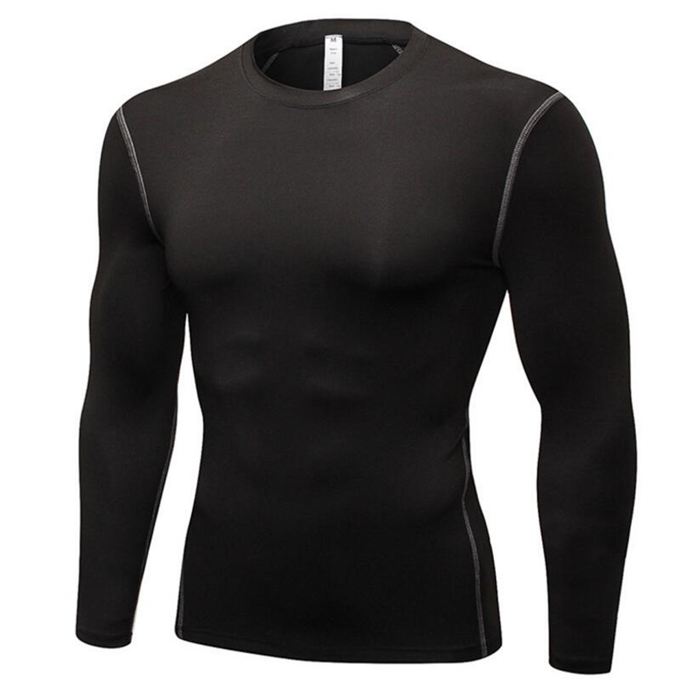 Men Sport Exercise Clothes Trainning Movement Running Long Sleeves Quick Dry Tight Sportswear Flexible Breathable Fitness Suits