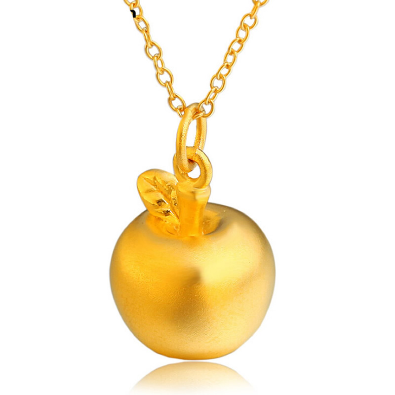 Authentic 24K Yellow Gold Pendant Womens Gift 3D Apple Pendant 1.25gAuthentic 24K Yellow Gold Pendant Womens Gift 3D Apple Pendant 1.25g