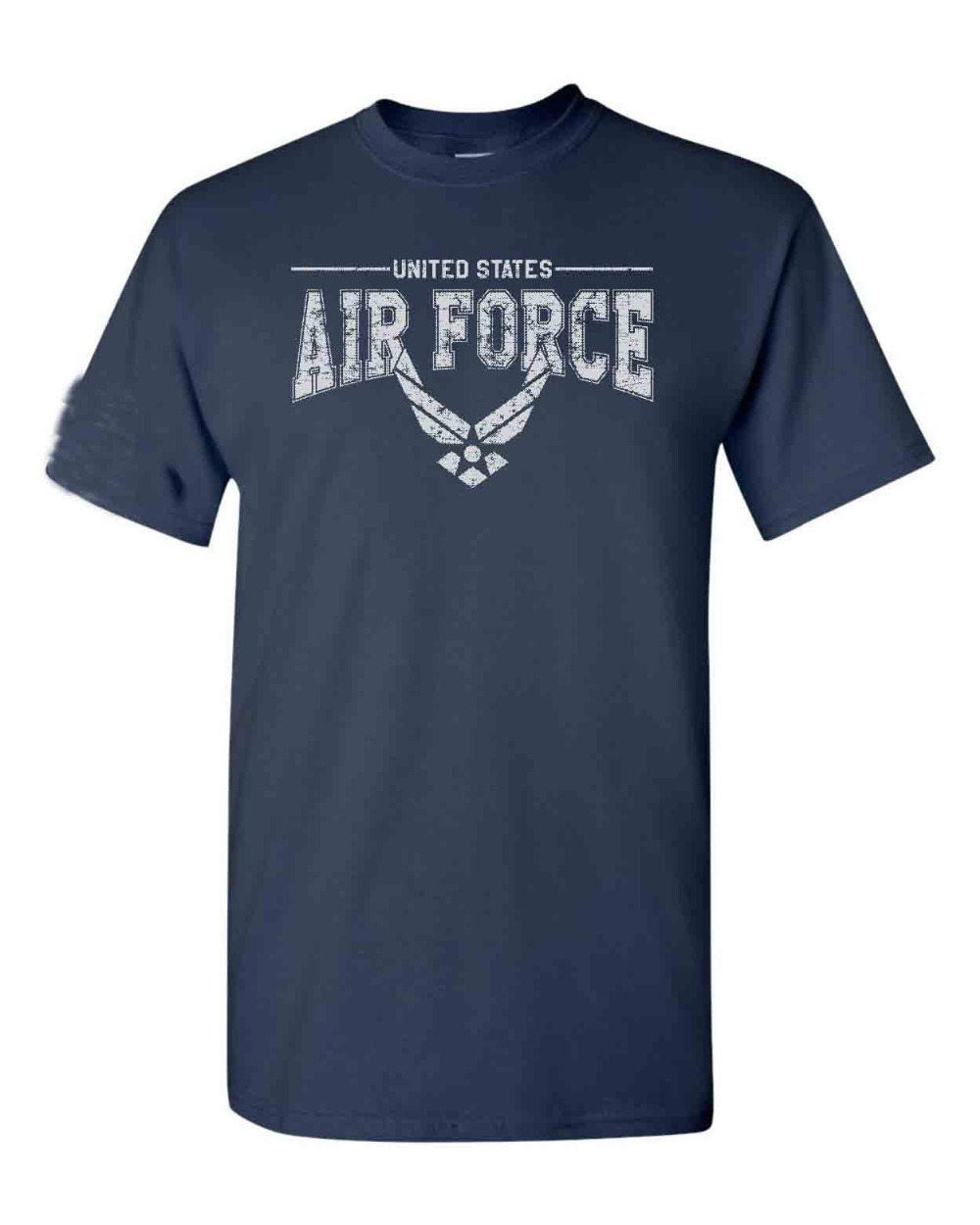 2019 New Summer Men Hot Sale Fashion US Air Force Logo W/US Flag Sleeve American Military <font><b>USAF</b></font> Men's O-Neck Tops Tee <font><b>Shirts</b></font> image