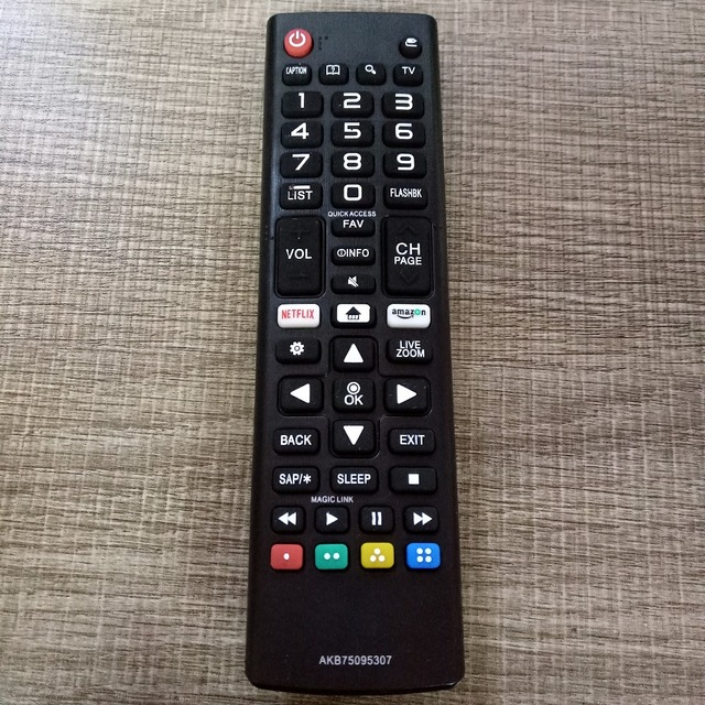 بديل جديد لـ LG AKB75095307 AKB75095303 led TV التحكم عن بعد 55LJ550M 32LJ550B 32LJ550M UB مع أزرار أمازون/نيتفليكس