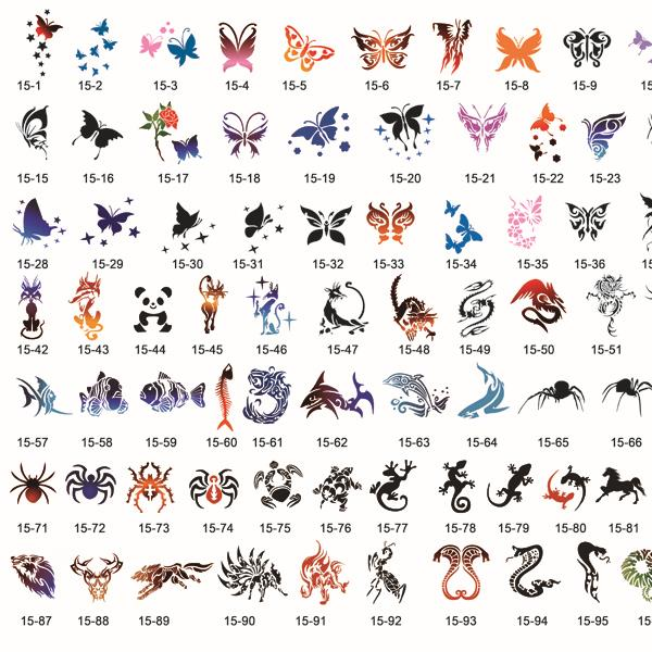[Butterfly & other Animals Designs]  Airbrush Body Art Tattoo Stencil Template BOOK 24, Free Shipping for most countries  цены