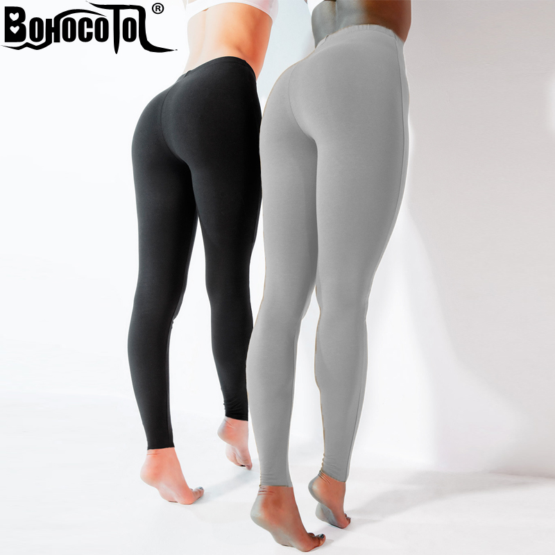 BOHOCOTOL 2018 Gothic Low Waist Leggings Women Sexy Hip Push Up Legging Jegging Leggins Jeggings Legins Autumn Summer