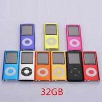 뜨거운 판매 슬림 MP3 MP4 음악 플레이어 1.8 인치 LCD 화면 FM 라디오 비디오 플레이어 32 기가바이트 8 기가바이트 4 기가바이트 메모리 9 Color 사용
