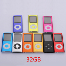 Hot Selling Slim MP3 MP4 Music Player 1.8 inch LCD Screen FM Radio Video Player with 32GB 8GB 4GB Memory 9 Color Availabe