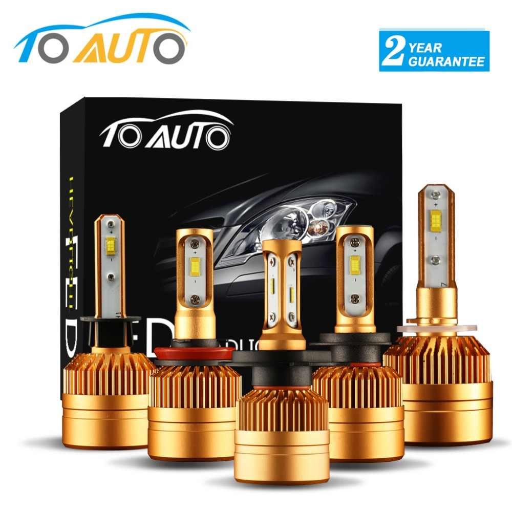 2Pcs H4 LED H7 H11 H8 9006 HB4 H1 H3 HB3 H9 H27 Car Headlight Bulbs LED Lamp with COB Chips 8000LM Auto Fog Lights 6000K 12V