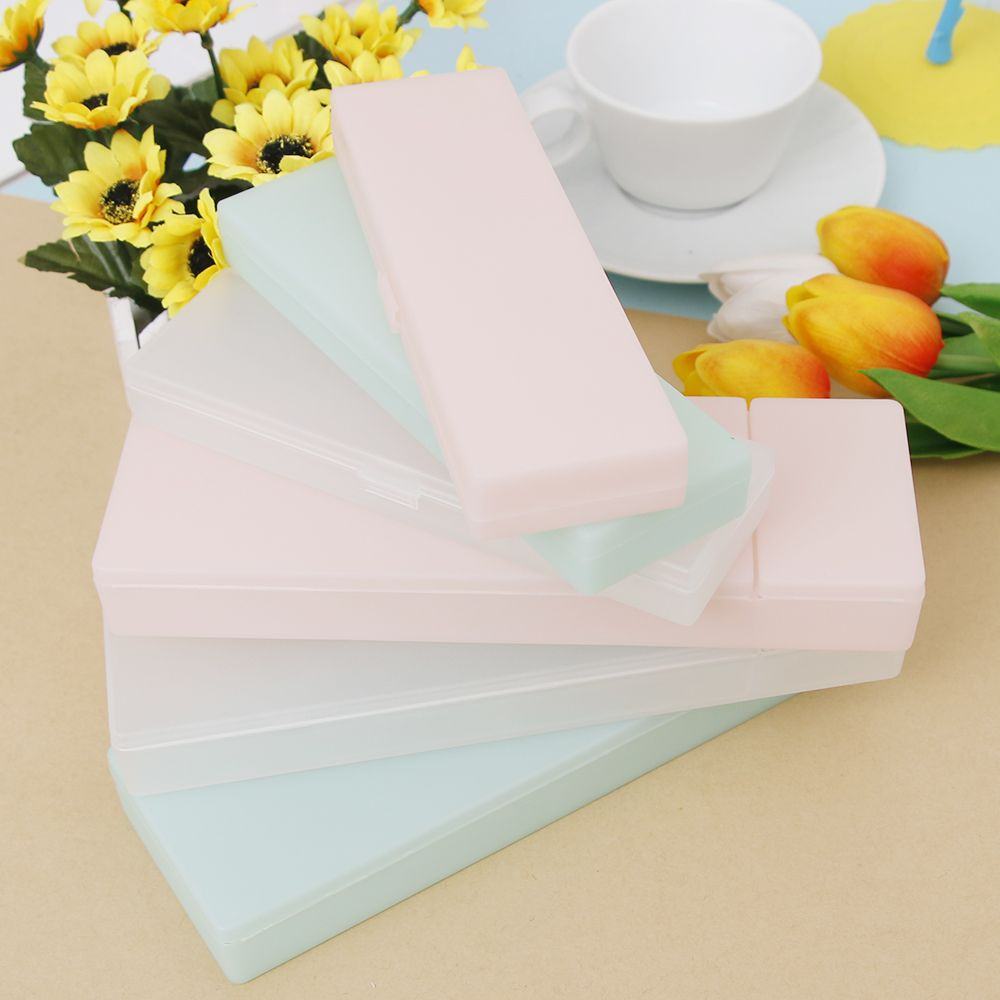 ISKYBOB Cute Kawaii Transparent PP Plastic Pencil Case Lovely Pen Box Travel Cosmetic Case