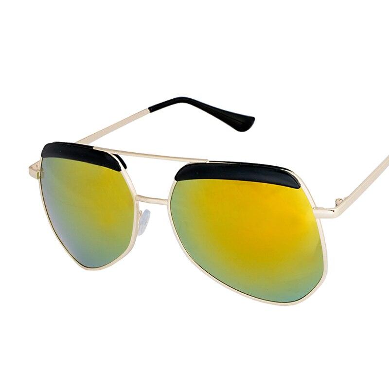 d1d1c1722e New Frog Mirror Sunglasses Women Brand Designer Fashion Vintage Metal  Polygon Sun Glasses Men Lunettes Gafas