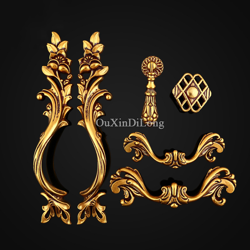 New 5Pair or 10PCS European Antique Kitchen Furniture Handles Retro Cupboard Drawer Wardrobe Cabinet Door Pulls Handles & Knobs 1 pair 4 inch stainless steel door hinges wood doors cabinet drawer box interior hinge furniture hardware accessories m25