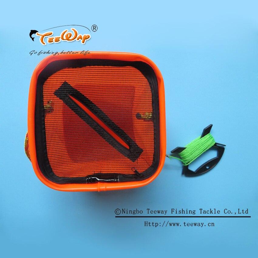 Prix pour Pliable EVA Seau D'eau avec Corde Ceinture Pêche En Plein Air S'attaquer Boîte Camping Fold S De Pêche Sac Cas