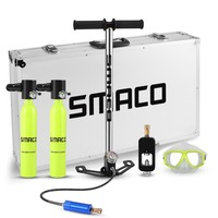 SMACO Two oxygen cylinder sets Mini scuba diving equipment tank total freedom breath underwater for 5 to 10 minutes