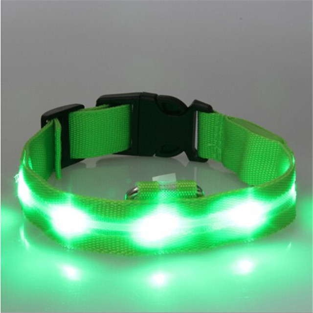 High Quality Pet LED Dog Collar Night Safety LED Flashing Glow LED Pet Supplies Dog Cat Collar Small Dogs Collars For Puppy 5