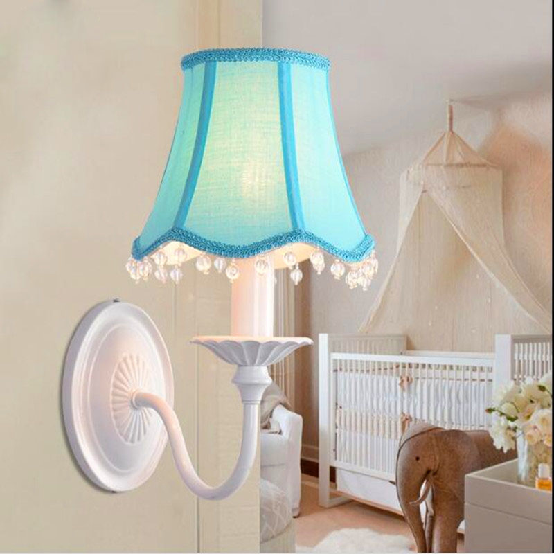 Wall sconce abajur fabric lampshades led wall lamp crystal lamp wall sconce abajur fabric lampshades led wall lamp crystal lamp ktv bar lamp bedroom kids light in wall lamps from lights lighting on aliexpress mozeypictures Choice Image