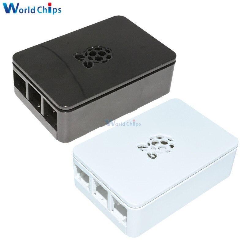 Czarny biały Raspberry pi 3 Case zaktualizowany Premium Raspberry Pi Case dla Raspberry Pi 3, 2 i B +