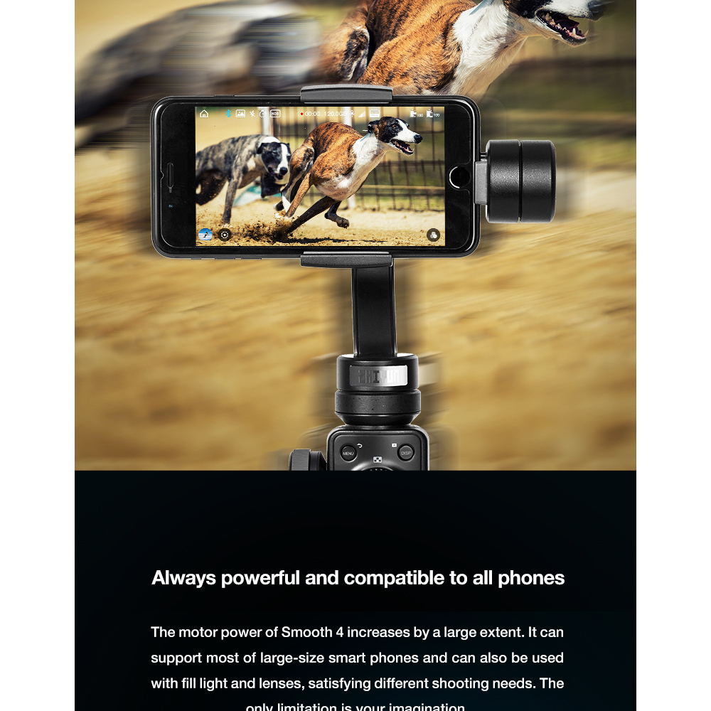 ZHIYUN Official Smooth 4 3-Axis Handheld Smartphone Gimbal Stabilizer VS Smooth Q Model for iPhone X 8Plus 8 7 6S Samsung S9S8S7 5