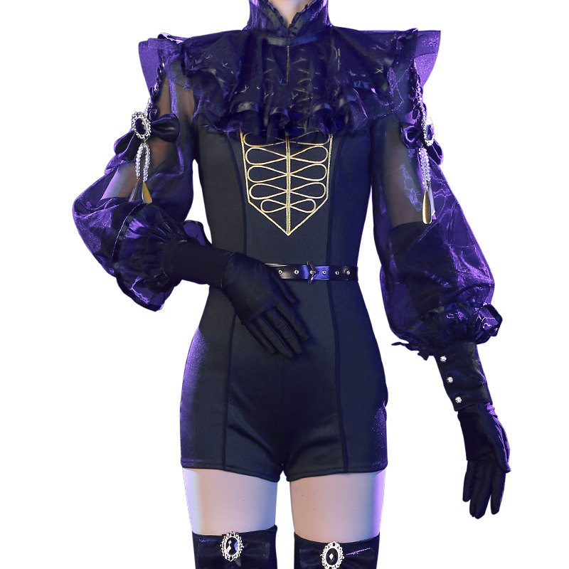 COSREA Land of the Lustrous Anime Cosplay Costume Black Purple Diamond Bort Houseki no Kuni Rutile Bort Jade Party For Woman