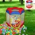 Niños pop-up tienda del juego de Interior Al Aire Libre Fácil Refugio Plegable Piscina De Bolas casa de Juego Tienda Choza