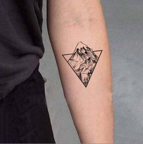 Imperméable temporaire faux autocollants de tatouage gris
