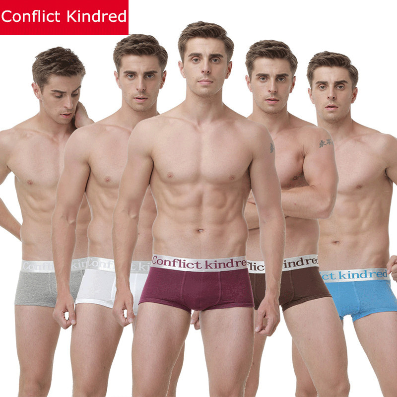 New Men Clothes 2018 Conflict Kindred Brand Mens Boxers Cotton Breathable Underwear Male Boxer Sexy Gay Shorts Mans Under wear