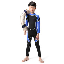fc3a0e89cf364 Kids Swimming Wetsuit dive suit Neoprene Diving Wetsuit Boys Girls  Swimsuits Long Sleeve UV Protection Back Zipper Swimwear