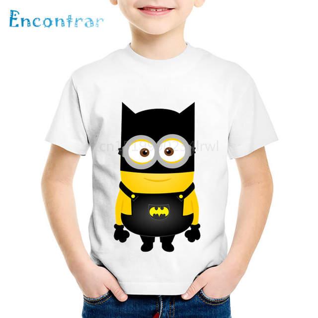 25cdf4eee25 Online Shop Children Minion Cosplay Batman Pikachu Deadpool Funny T shirt  Summer Cartoon Kids Clothes Boys Girls Tops Baby T shirt