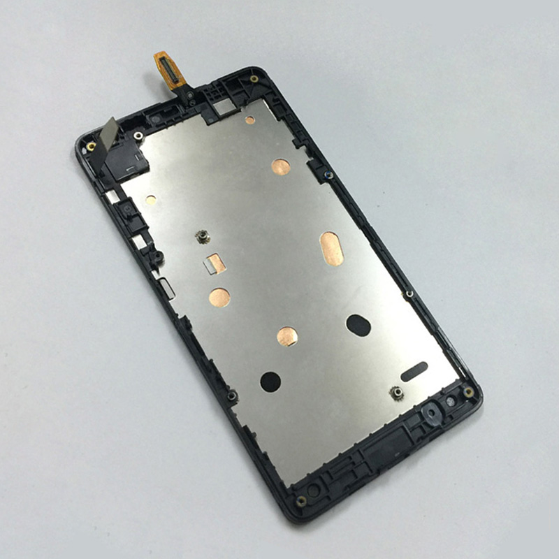 Black For Microsoft Nokia Lumia 535 N535 2S / 2C Touch Screen Digitizer Glass + LCD Display Panel Monitor Assembly with Frame