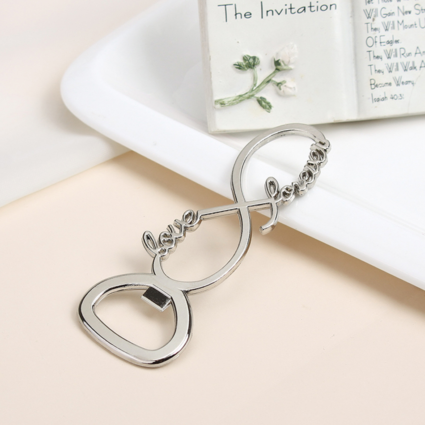 Love forever bottle opener for your wedding favours free for Bottle opener wedding favor