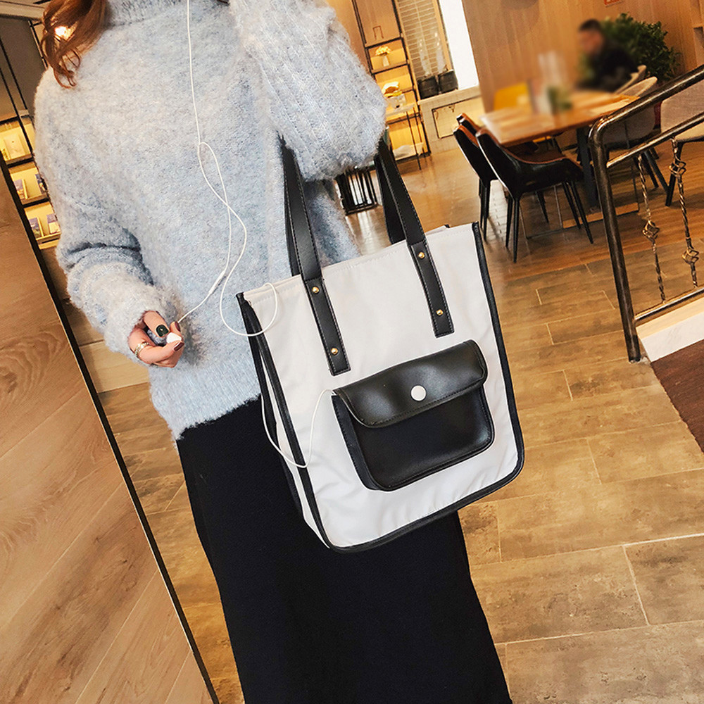 Fashion Women Girl Outdoor Nylon Hasp Hit Color Shoulder Bag Hand Bag Phone Bag 1221