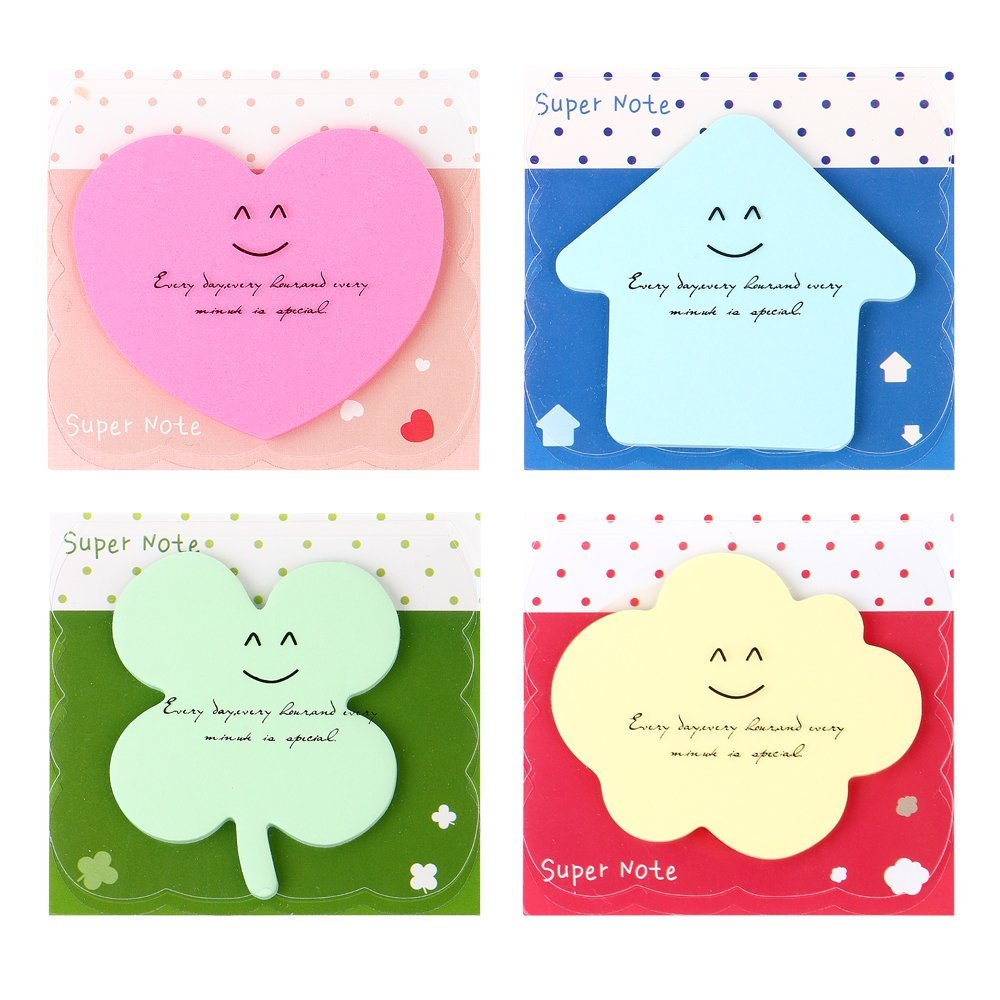 Cute Korean Kawaii Star Apple Post It Planner Stickers Memo Pad Sticky Notes Pads Stationery School Office Supplies, 28 Sheets