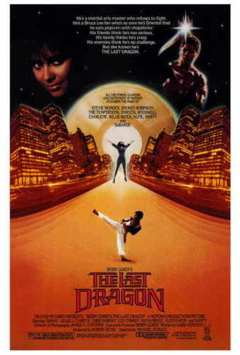 THE LAST DRAGON Movie Taimak Vanity Christopher Murney SILK POSTER Wall painting image