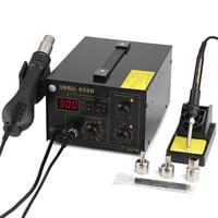 852D Hot Air Gun 2 in 1 Digital Soldering Station Iron Rework Soldering Station 110V or 220V with Heat Gun