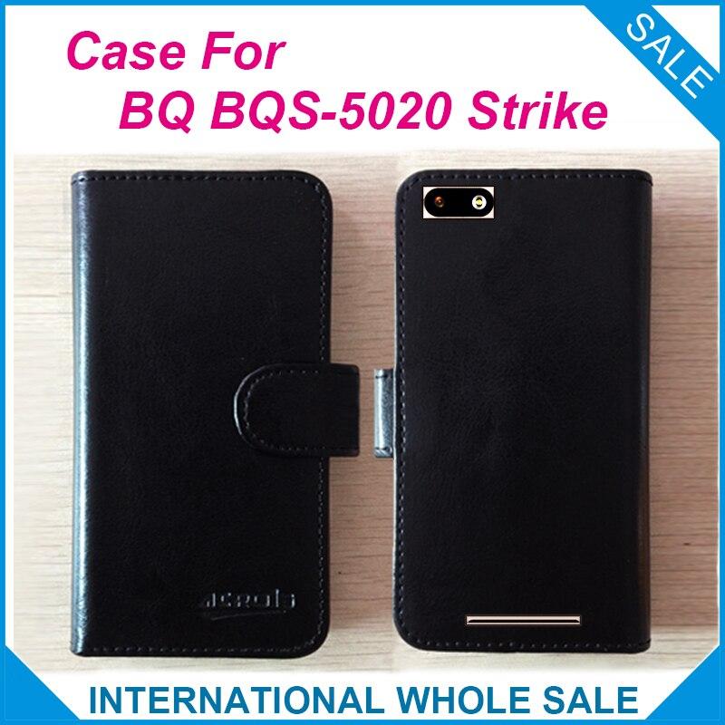 6 barev Hot! BQ BQS-5020 Pouzdro na pouzdro, vysoce kvalitní kožené pouzdro exkluzivní pro BQ BQS-5020 Pouzdro na pouzdro na telefonní pouzdro