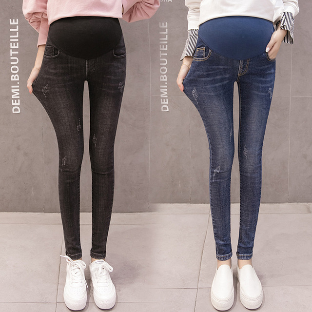 24e61bd45691a New in Maternity Pants Autumn Maternity Clothes Skinny Jeans For Pregnant  Women Denim Fashion Pregnancy Leggings Winter Trousers