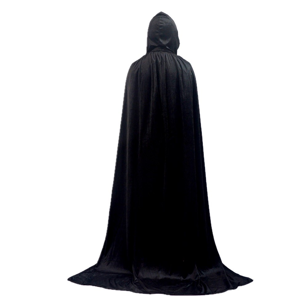 Gold velvet cloak Halloween Death Cloak Cosplay Wizard Witch Prince Princess Carnival Performance Masquerade Party Christmas in Movie TV costumes from Novelty Special Use