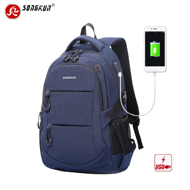 Songkun Brand Multifunction USB Charge 15.6 inch Laptop Backpack Anti-theft Men Backpacks School Bags For Teenager Women Mochila dtbg backpack for men women 15 6 inch notebook laptop bags anti theft men s backpacks travel school back pack bag for teenagers