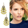 European fashion jewelry S-D-J NORAH CHANDELIERS drop EARRINGS elegant party drop earrings  -Free Shipping