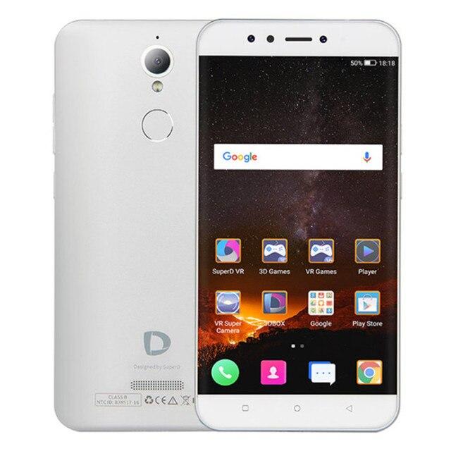 Envios da Espanha SuperD D1 3 GB RAM 32 GB ROM MTK6750T 1,5 GHz Octa Core 5,5 pulgadas 2.5D VR FHD Tela Android 6,0 4G Smartphone