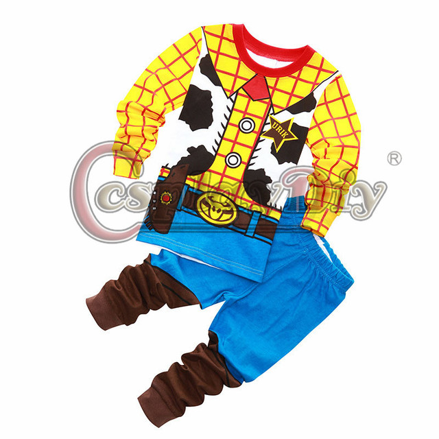 8f336c126 Cosplaydiy Sheriff Woody Costume Toy Story Cowboy Kids Pajamas Sets Baby  Clothing Set Boys Girls Pyjamas
