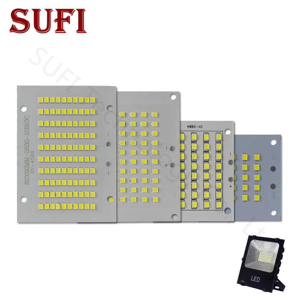 100% Full Power LED Floodlight PCB 10W 20W 30W 50W SMD2835 LED Lamp led PCB board Aluminum plate for led 10 20 30 50W floodlight