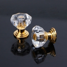 10PC Diamond Shape Crystal Glass Cabinet Knob Drawer Pull Handle For Jewelry Box 2 sets lot 10pcs diamond shape crystal glass drawer pull handle knob red
