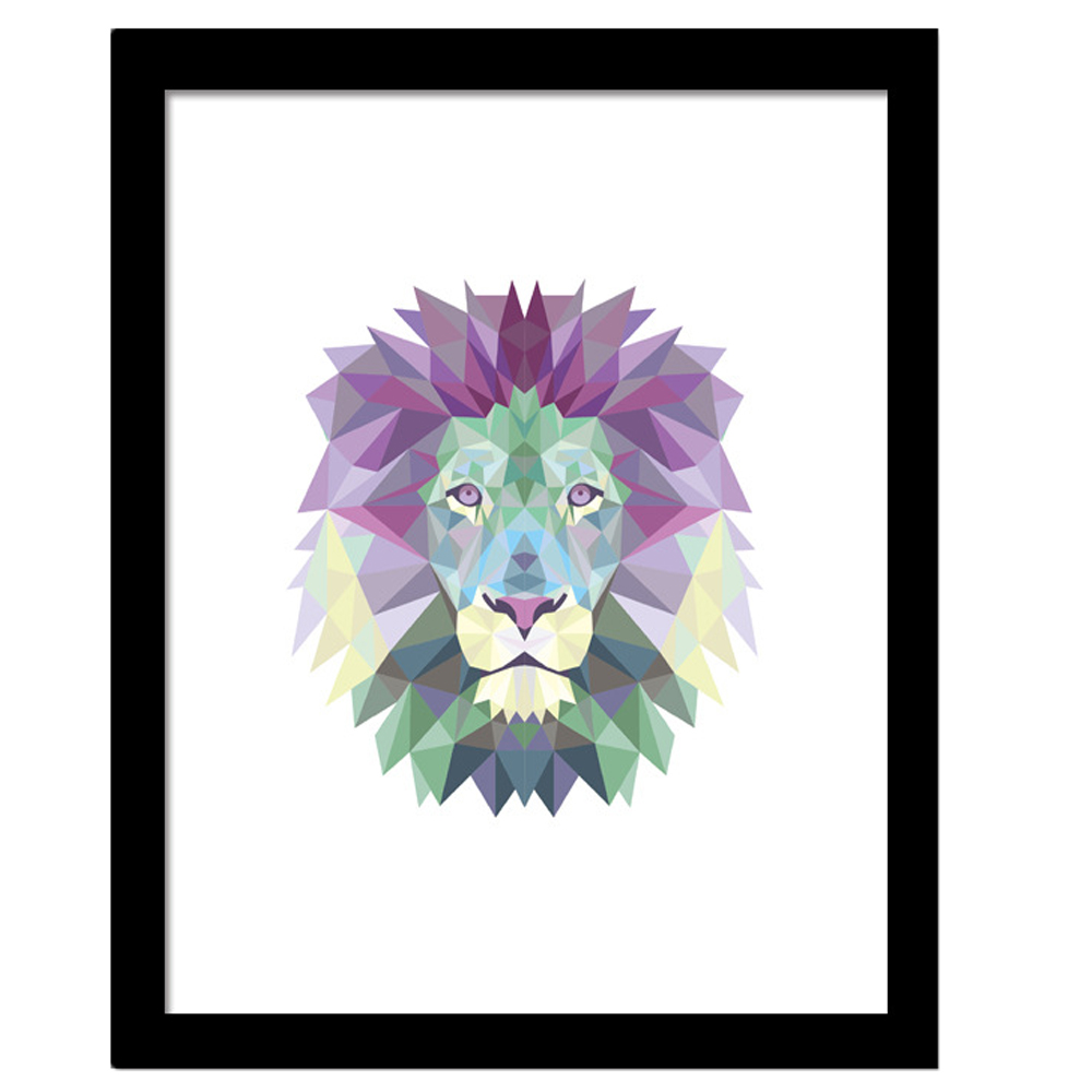 Geometric Lion Canvas Art Print Painting Poster Art Prints Poster Hipster Wall Picture Canvas Painting Kids Room Home Decor