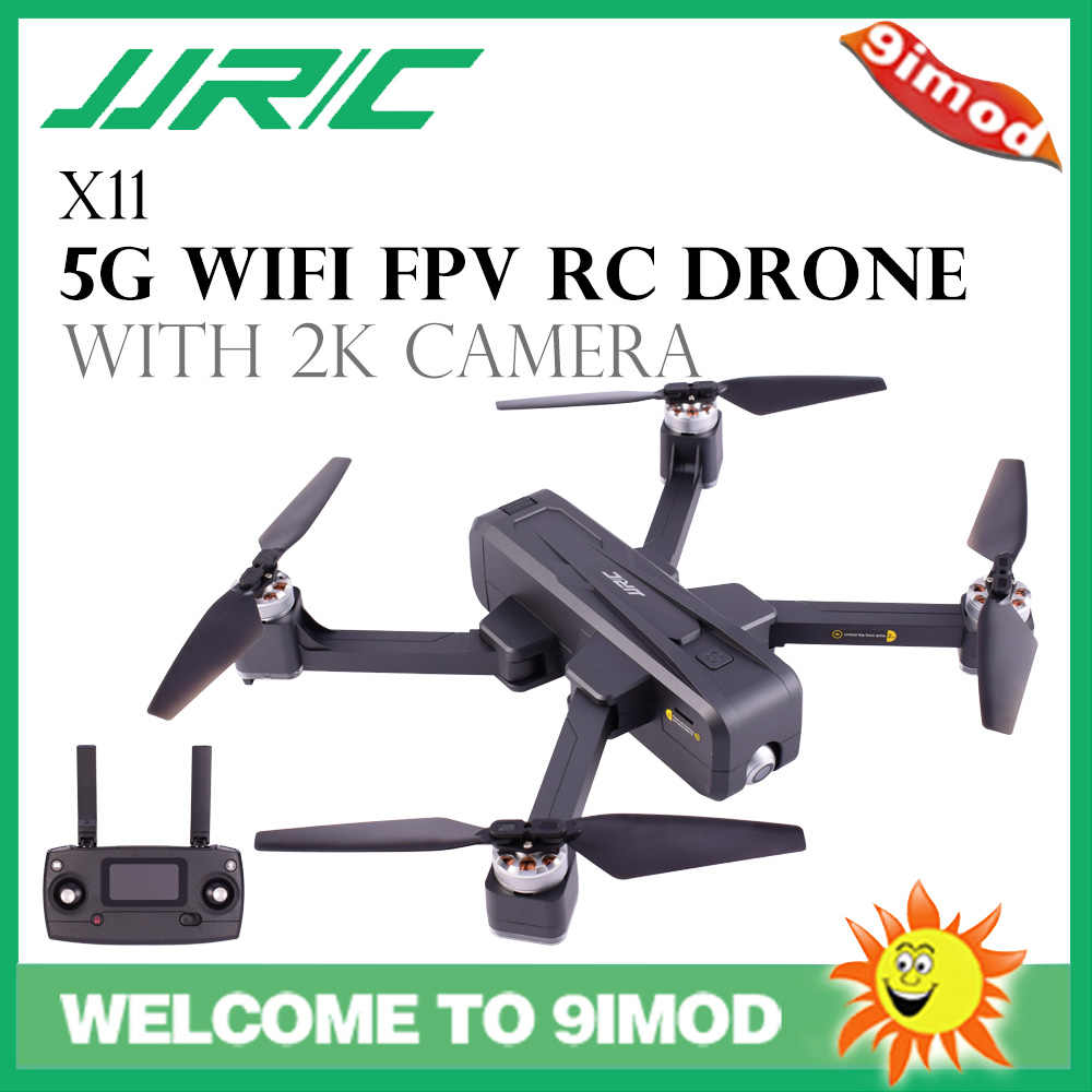 JJRC X11 5G WIFI FPV Drone 2K Camera GPS 20mins Flight Time Brushless Foldable RC Drone Quadcopter Optical Flow Positioning RTF
