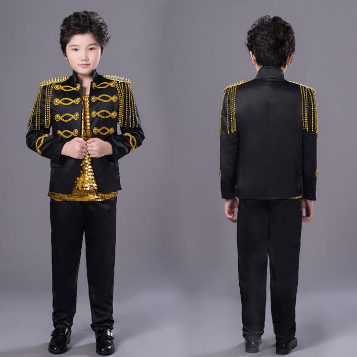 Children's Day Mens Suits Designs Stage Singers Men Tassel Blazer Dance Clothes Jacket Star Style Dress Punk Black White Red