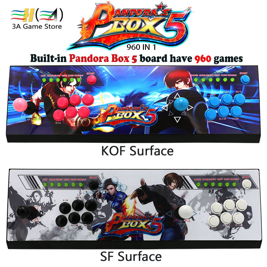 Nouveau Pandora boîte 5 960 dans 1 kit de contrôle arcade joystick usb boutons zéro retard 2 joueurs HDMI VGA arcade console contrôleur TV pc