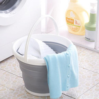12pcs Lot 10L Folding Bucket Bathroom Outdoor Fishing Bait Folding Round Portable Car Wash Tool High