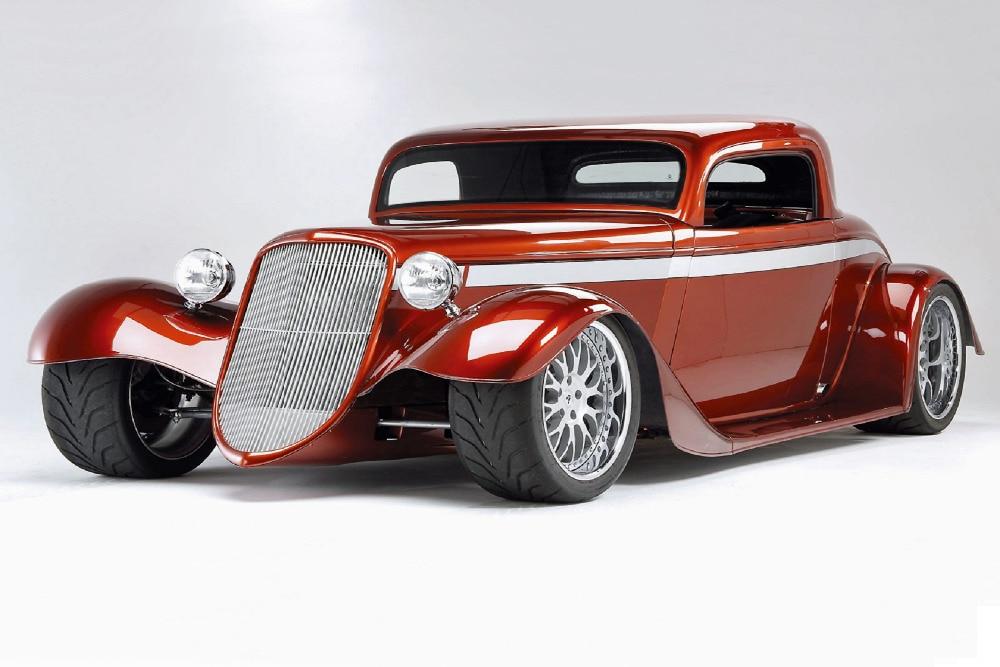 Red Super Classic Car Wallpaper Custom Well Design Fashion Wall ...
