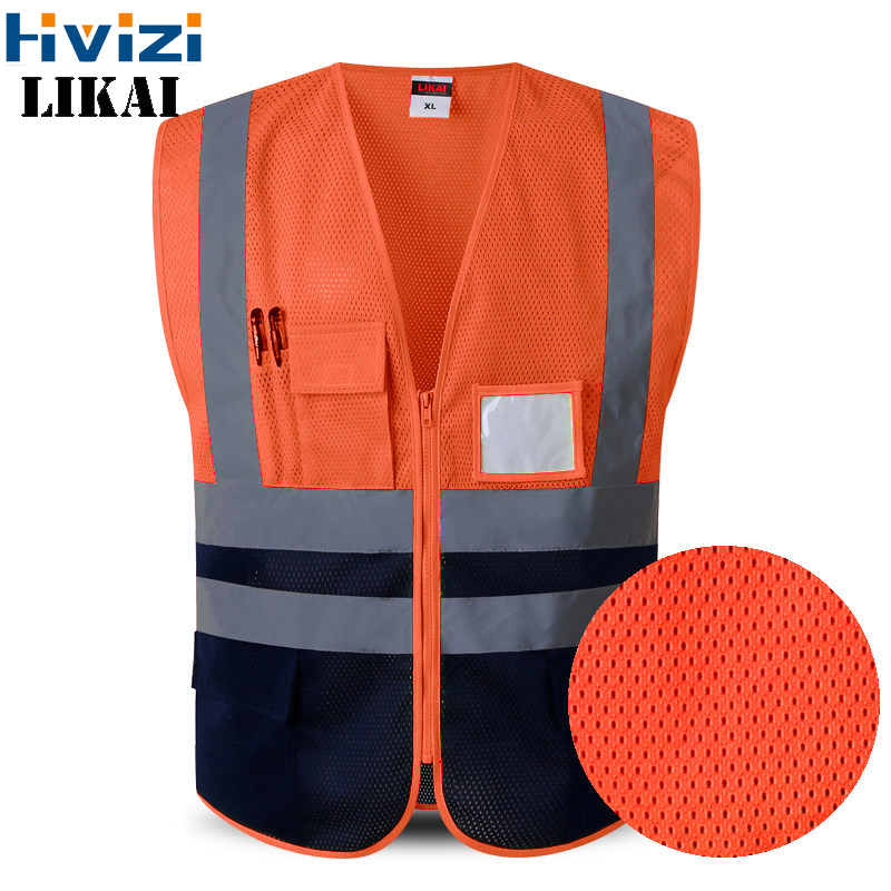 High Visibility Reflective Vest Warning Traffic/Construction Outdoor Safety Security Labor Clothes Mesh LOGO PRINT FREE SHIPPING